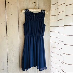 Lily Rose Navy Cocktail Mini Dress
